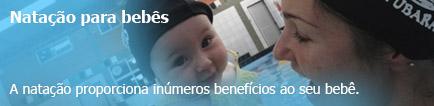 Banner natação para bebês